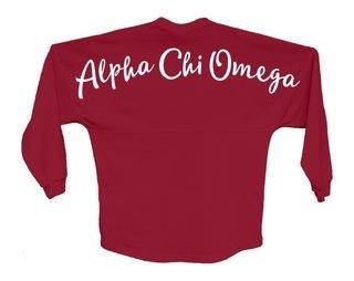 Alpha Chi Omega Script Jersey