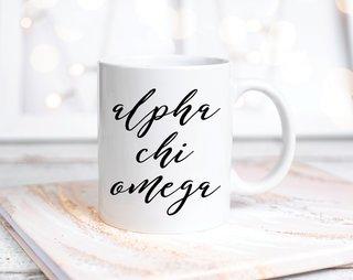 Alpha Chi Omega Script Mug