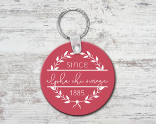 Alpha Chi Omega Since Established Keyring