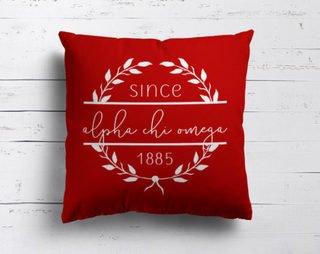 Alpha Chi Omega Since Established Pillow