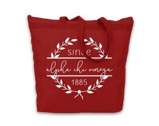 Alpha Chi Omega Since Established Tote bag