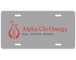 Alpha Chi Omega Sorority Logo License Cover