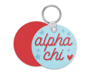 Alpha Chi Omega Star Key Chain