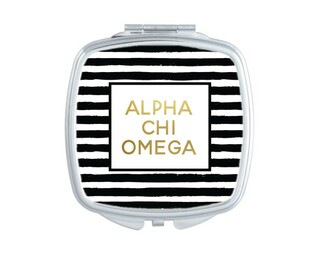 Alpha Chi Omega Striped Compact