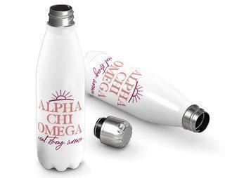 Alpha Chi Omega Sun Water Bottle