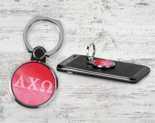 Alpha Chi Omega Water Color Phone Ring