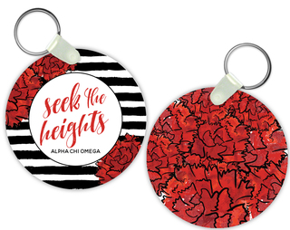 Alpha Chi Omega Watercolor Motto Keychain