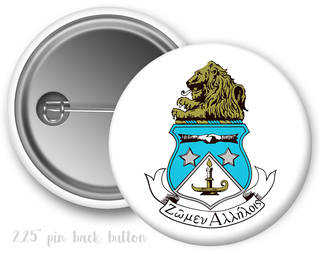 Alpha Delta Pi Color Crest - Shield Button