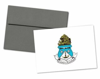 Alpha Delta Pi Color Crest - Shield Notecards(6)