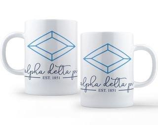 Alpha Delta Pi Established Coffee Mug
