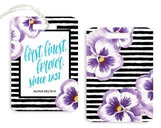 Alpha Delta Pi Floral Motto Luggage Tag