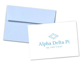 Alpha Delta Pi Logo Notecards(6)