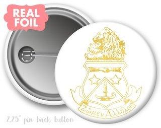 Alpha Delta Pi Foil Crest - Shield Button