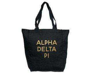 Alpha Delta Pi Gold Foil Tote bag