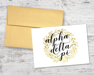 Alpha Delta Pi Gold Wreath Notecards(6)