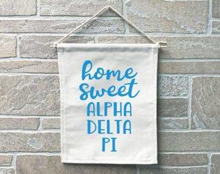 Alpha Delta Pi Home Sweet Home Banner