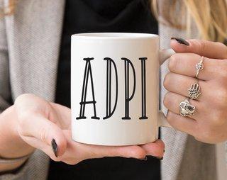 Alpha Delta Pi Inline Coffee Mug