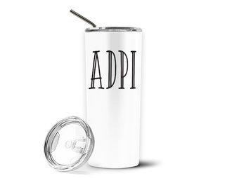 Alpha Delta Pi Inline Stainless Tumbler