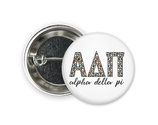 Alpha Delta Pi Leopard Button