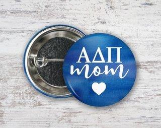 Alpha Delta Pi Mom Button