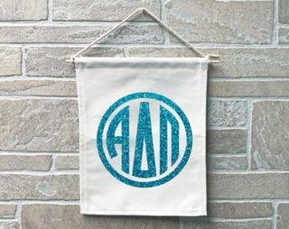 Alpha Delta Pi Monogram Banner