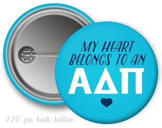 Alpha Delta Pi My Heart Belongs to a Button