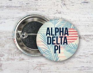 Alpha Delta Pi Paradise Found Button