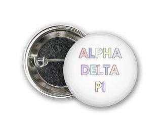 Alpha Delta Pi Pastel Letter Button