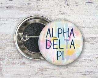 Alpha Delta Pi Pastel Strokes Button