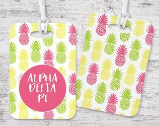 Alpha Delta Pi Pineapple Luggage Tag