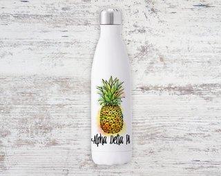 Alpha Delta Pi Pineapple Steel Water Bottle