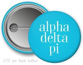 Alpha Delta Pi Simple Text Button