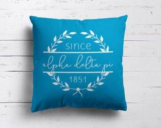 Alpha Delta Pi Since Established Pillow