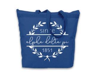 Alpha Delta Pi Since Established Tote bag