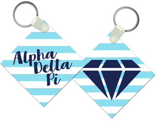 Alpha Delta Pi Striped Mascot Keychain
