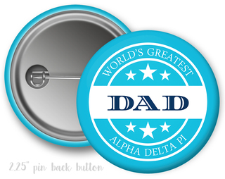 Alpha Delta Pi World's Greatest Dad Button