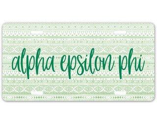 Alpha Epsilon Phi Aztec License Plate