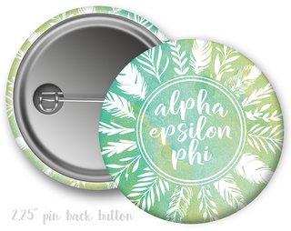 Alpha Epsilon Phi Feathers Button