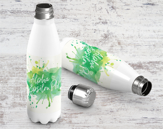 Alpha Epsilon Phi Watercolor Stainless Steel Water Bottle