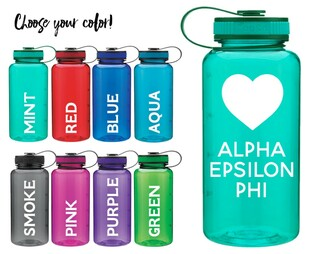 Alpha Epsilon Phi Heart Water Bottle