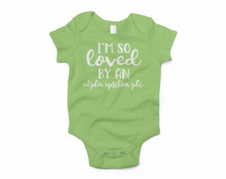 Alpha Epsilon Phi I'm So Loved Baby Outfit Onesie