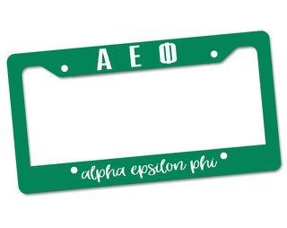 Alpha Epsilon Phi License Plate Frame