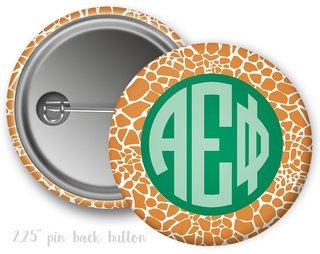 Alpha Epsilon Phi Giraffe Button
