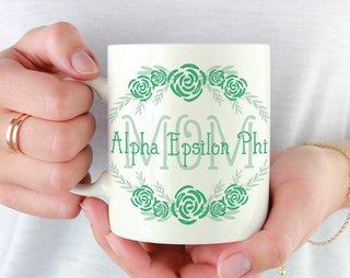 Alpha Epsilon Phi Mom Floral Mug