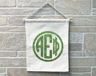 Alpha Epsilon Phi Monogram Banner