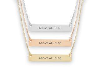Alpha Epsilon Phi Motto Bar Necklace