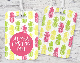 Alpha Epsilon Phi Pineapple Luggage Tag