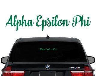 Alpha Epsilon Phi Script Decal
