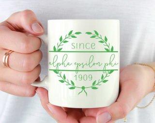 Alpha Epsilon Phi Since Established Coffee Mug