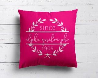 Alpha Epsilon Phi Since Established Pillow